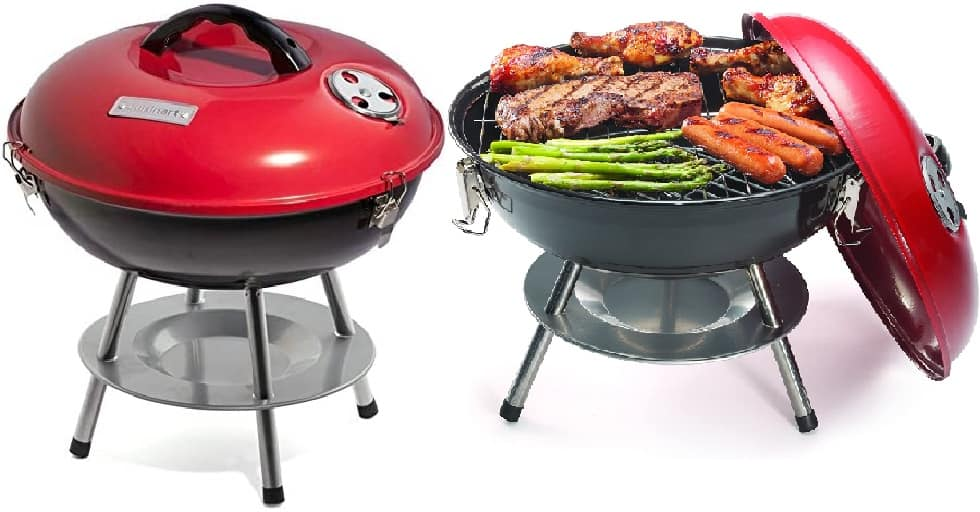 Cuisinart-CCG190RB-Portable-Charcoal-Grill-14-Inch-Red